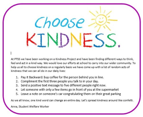 Choose Kindness list of random acts of kindness